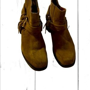 Diesel Beige Suede Ankle Boots